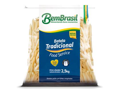 Imagem de Batata Bem Brasil Tradicional 9mm Congelada PCT 2,5kg