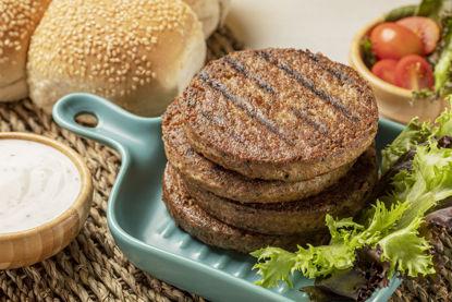 Imagem de Hambúrguer de Soja sabor Carne Congelado 240g PCT 2 unid de 120g